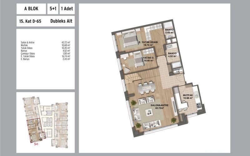 صور مخطط  نوفال مالتبه (Nouvel Maltepe) ، مالتبه ، حي يالي  ، اسطنبول   بورتوكوزا العقارية