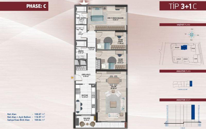 صور مخطط  أتاكنت 4 (Avrupa Konutları Atakent 4) ، كوتشوك شكمجة ، حي أتاكنت ، اسطنبول | بورتوكوزا العقارية