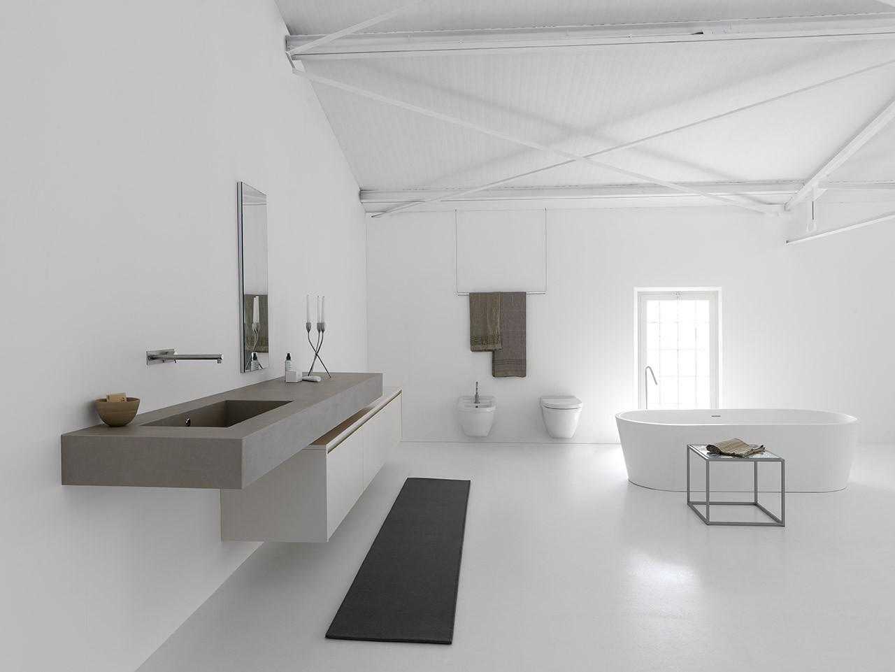 Meuble de salle de bain suspendu en cramique Kerlite MB3TWENTY Composition 2  Porto Venere