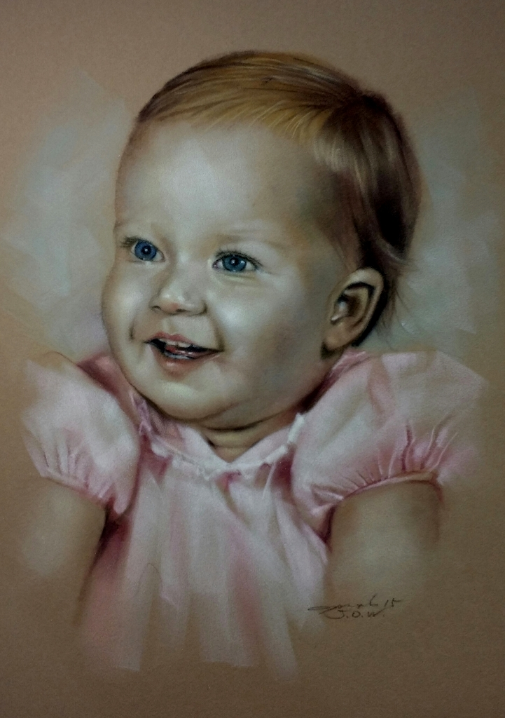 Pastel Kid Portraits in Raleigh NC