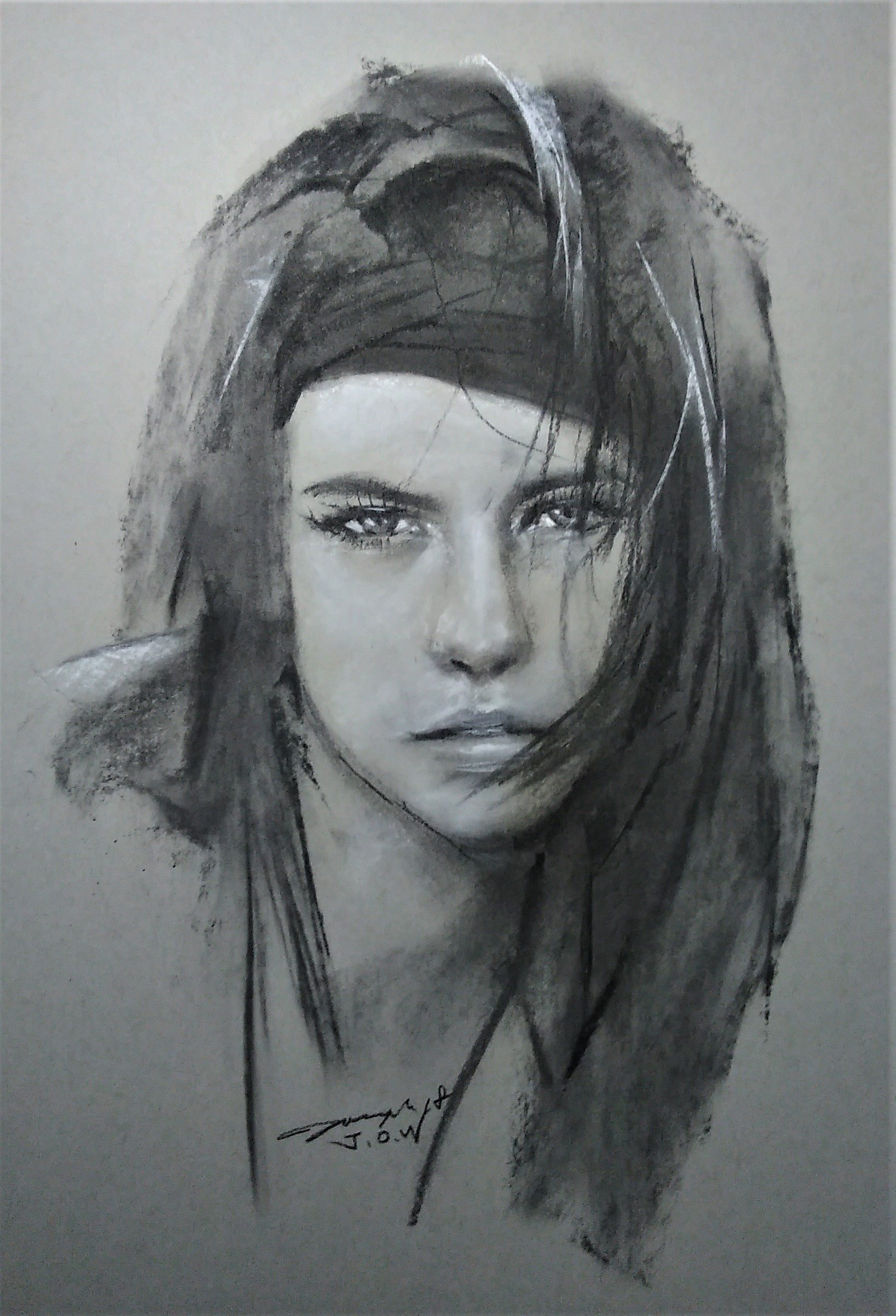 Charcoal on paper 16 x 20