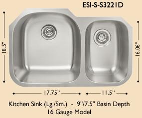 Lb 400 Bs Esi Stainless Single 16 Gauge Undermount Kitchen