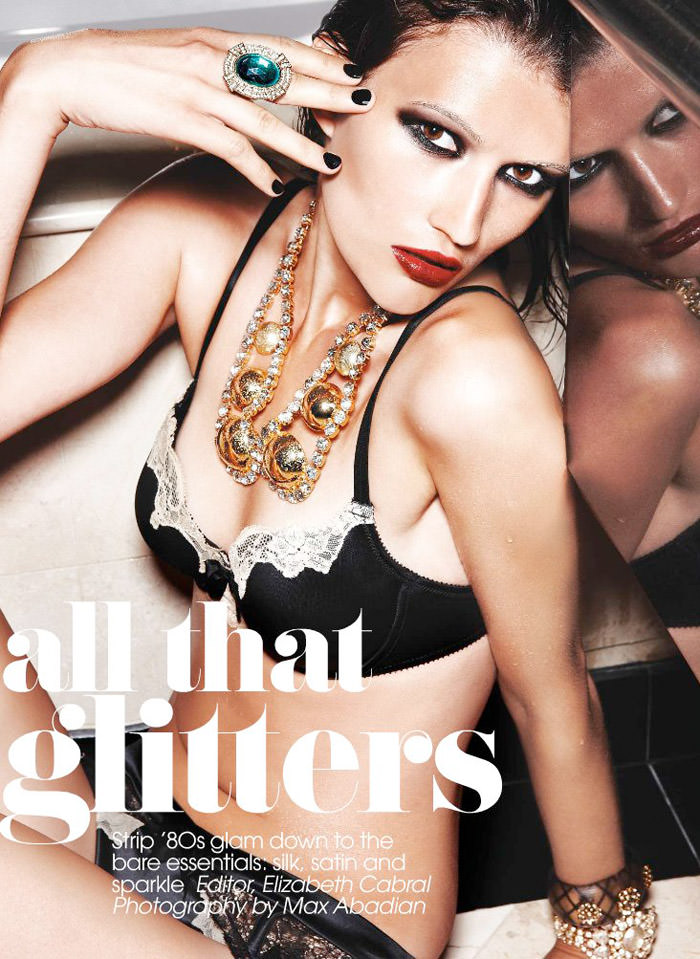 "Tara Gill photographed by Max Abadian in ""All That Glitters"" for Flare, February 2010 1"