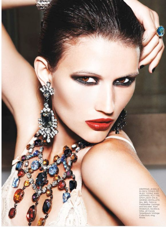 """Tara Gill photographed by Max Abadian in """"All That Glitters"""" for Flare, February 2010 4"""