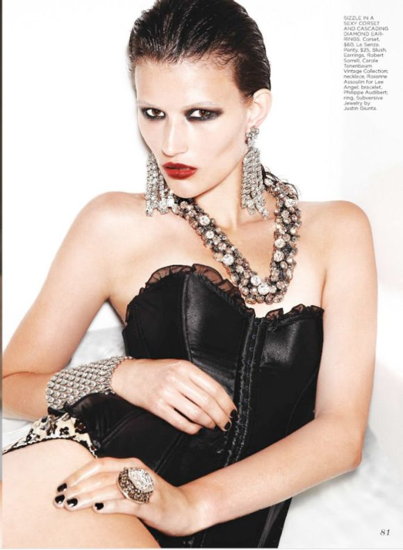 """Tara Gill photographed by Max Abadian in """"All That Glitters"""" for Flare, February 2010 5"""
