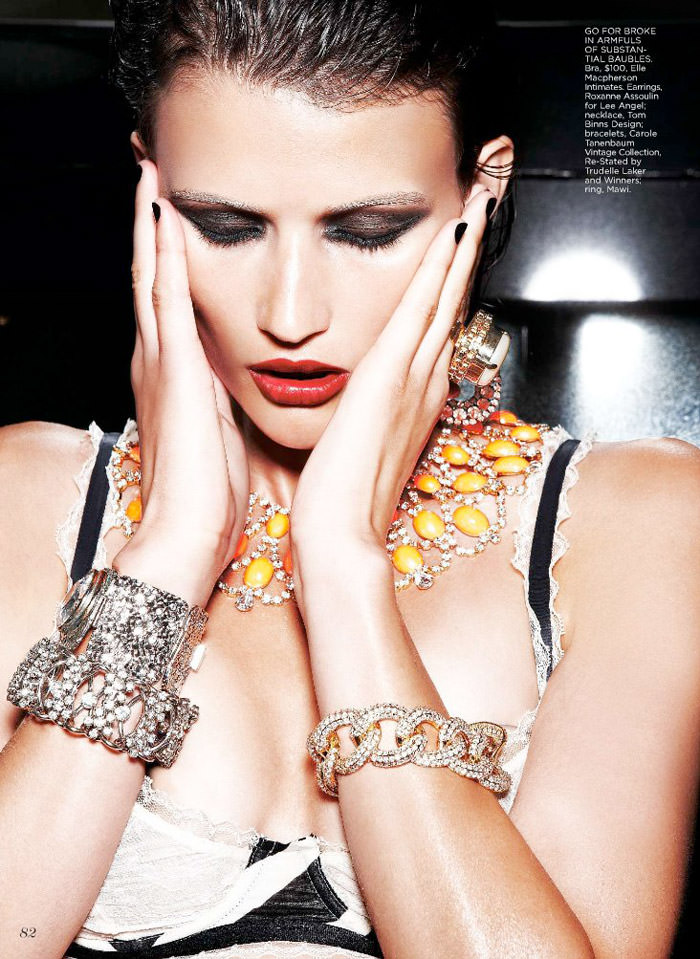 "Tara Gill photographed by Max Abadian in ""All That Glitters"" for Flare, February 2010 6"