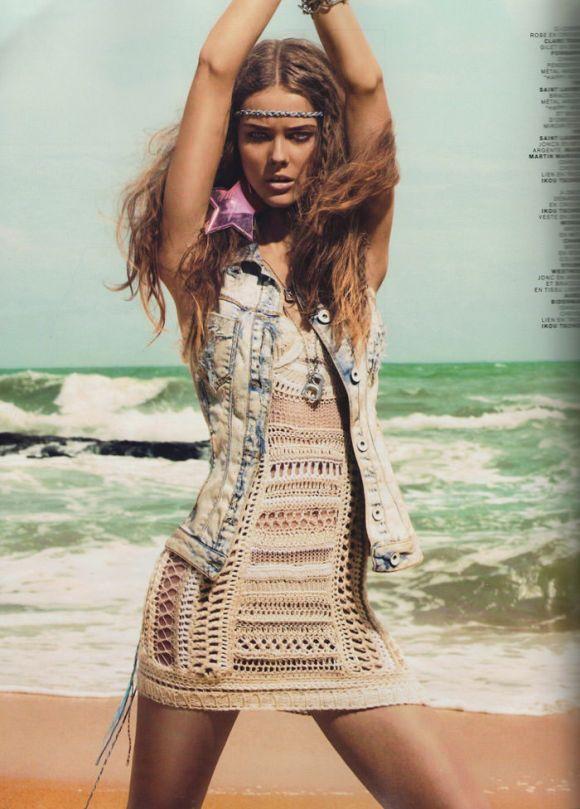 "Flashback: Monika 'Jac' Jagaciak photographed by Chuando & Frey in ""Beach"" for French Jalouse, June 2008 2"