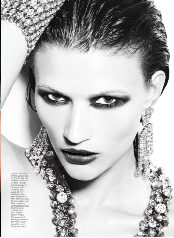 """Tara Gill photographed by Max Abadian in """"All That Glitters"""" for Flare, February 2010 7"""