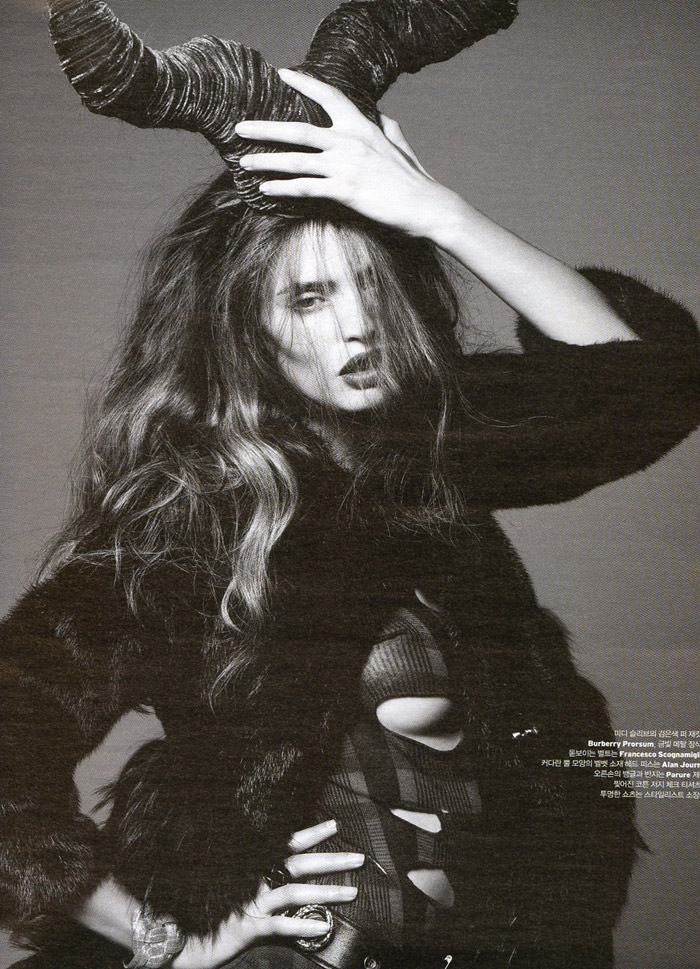 "Bianca Balti photographed by Gianluca Fontana in ""Xtreme!"" for W Korea, January 2010 4"