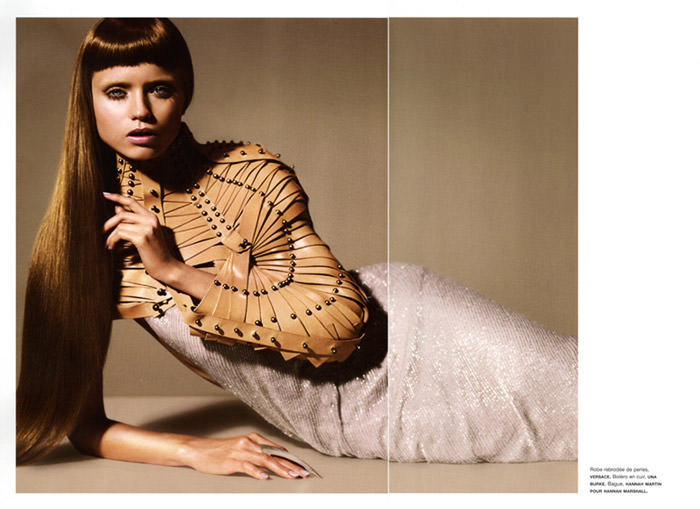 """Abbey Lee Kershaw photographed by Miguel Reveriego in """"Oiseau Rare"""" for Numéro #109 9"""