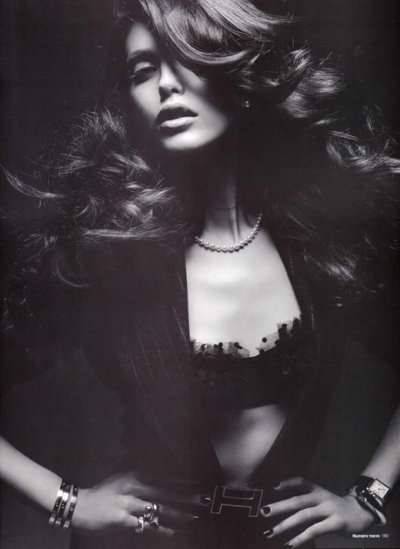 "Emily Didonato photographed by Satoshi Saikusa in ""Dazzling Noir"" for Numéro Tokyo, February 2010 2"