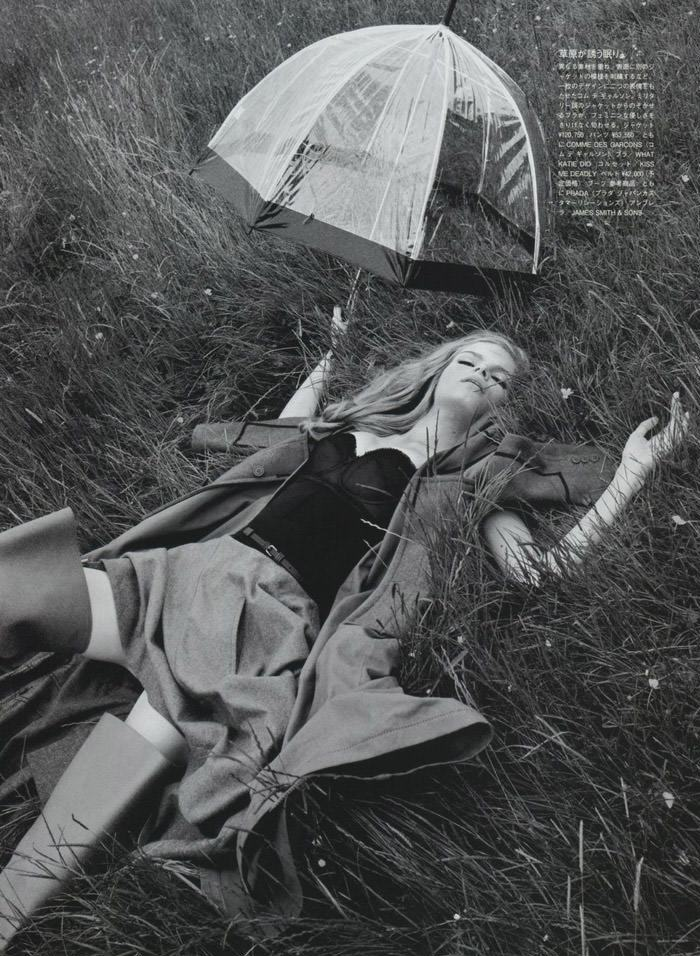 """Mélodie Dagault photographed by Emma Summerton in """"Primitive Echoes"""" for Vogue Nippon, January 2010 5"""