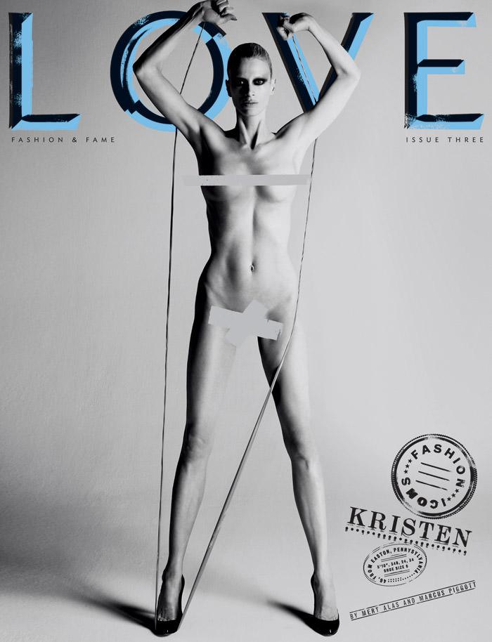 Cover: Kristen McMenamy for Love Magazine – Spring & Summer, 2010 1