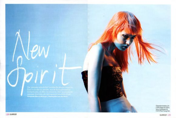 """Magdalena 'Olivka' Chrobot photographed by Barrie Hullegie in """"New Spirit"""" for Glamour Magazine 1"""