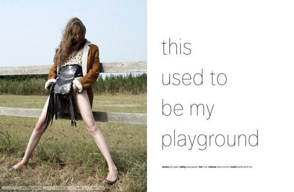 """Sophie Srej photographed by Terry Gates in """"This Used To Be My Playground"""" 1"""
