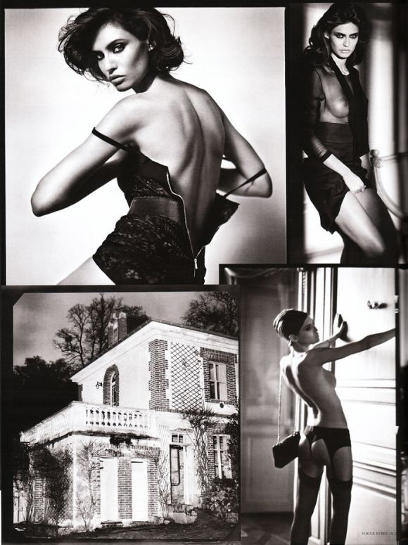 """Bianca Balti photographed nude by Vincent Peters in """"Privat Stunde"""" for Vogue Germany, February 2010 7"""