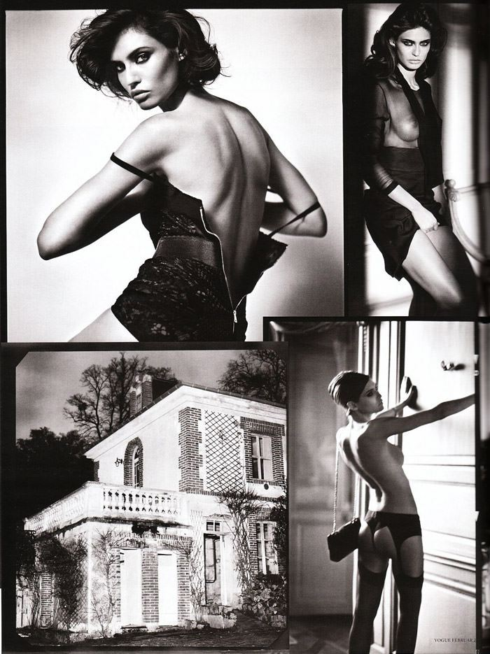 "Bianca Balti photographed nude by Vincent Peters in ""Privat Stunde"" for Vogue Germany, February 2010 7"