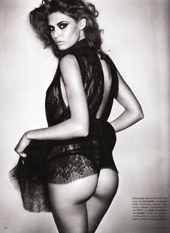 """Bianca Balti photographed nude by Vincent Peters in """"Privat Stunde"""" for Vogue Germany, February 2010 9"""