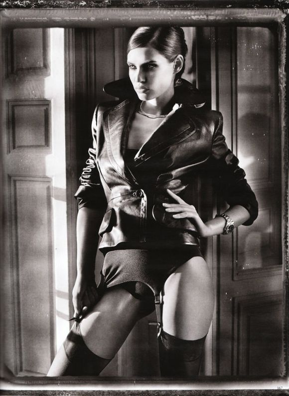 """Bianca Balti photographed nude by Vincent Peters in """"Privat Stunde"""" for Vogue Germany, February 2010 10"""