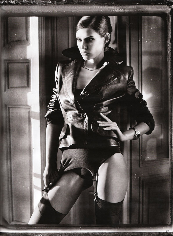 "Bianca Balti photographed nude by Vincent Peters in ""Privat Stunde"" for Vogue Germany, February 2010 10"