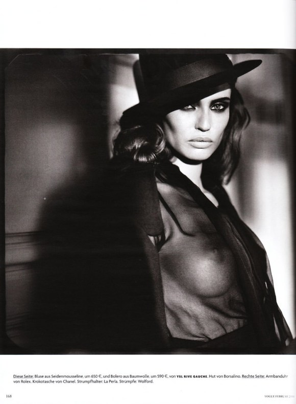 """Bianca Balti photographed nude by Vincent Peters in """"Privat Stunde"""" for Vogue Germany, February 2010 11"""