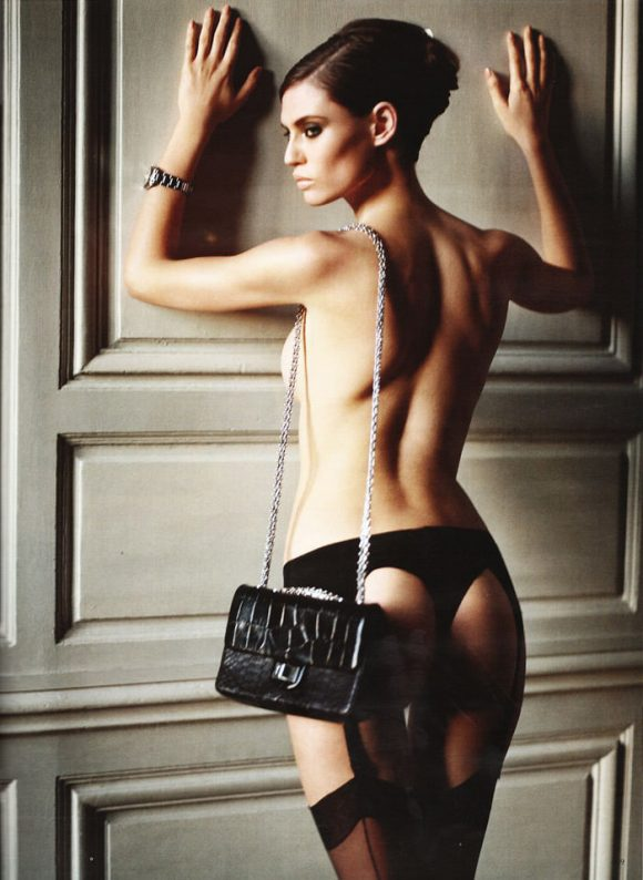 """Bianca Balti photographed nude by Vincent Peters in """"Privat Stunde"""" for Vogue Germany, February 2010 12"""