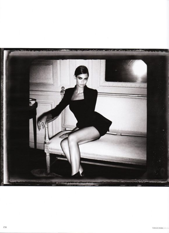 """Bianca Balti photographed nude by Vincent Peters in """"Privat Stunde"""" for Vogue Germany, February 2010 13"""