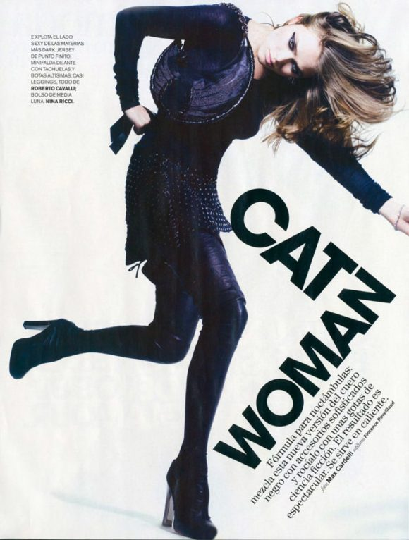 """Sophie Vlaming photographed by Max Cardelli in """"Cat Woman"""" for Maire Claire Spain, January 2010 1"""