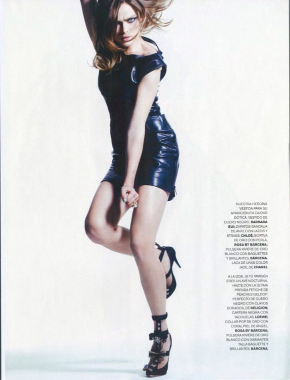 """Sophie Vlaming photographed by Max Cardelli in """"Cat Woman"""" for Maire Claire Spain, January 2010 4"""