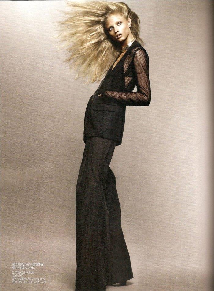 "Anna Selezneva photographed by Sølve Sundsbø in ""Revolutionary Blazer"" for Vogue China, March 2010 5"