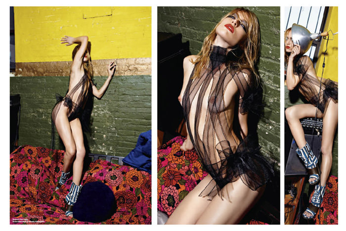 """Raquel Zimmermann photographed by Mario Sorrenti in """"High Performance"""" for V Magazine #64 2"""