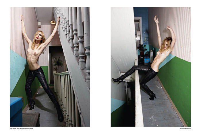 """Raquel Zimmermann photographed by Mario Sorrenti in """"High Performance"""" for V Magazine #64 3"""