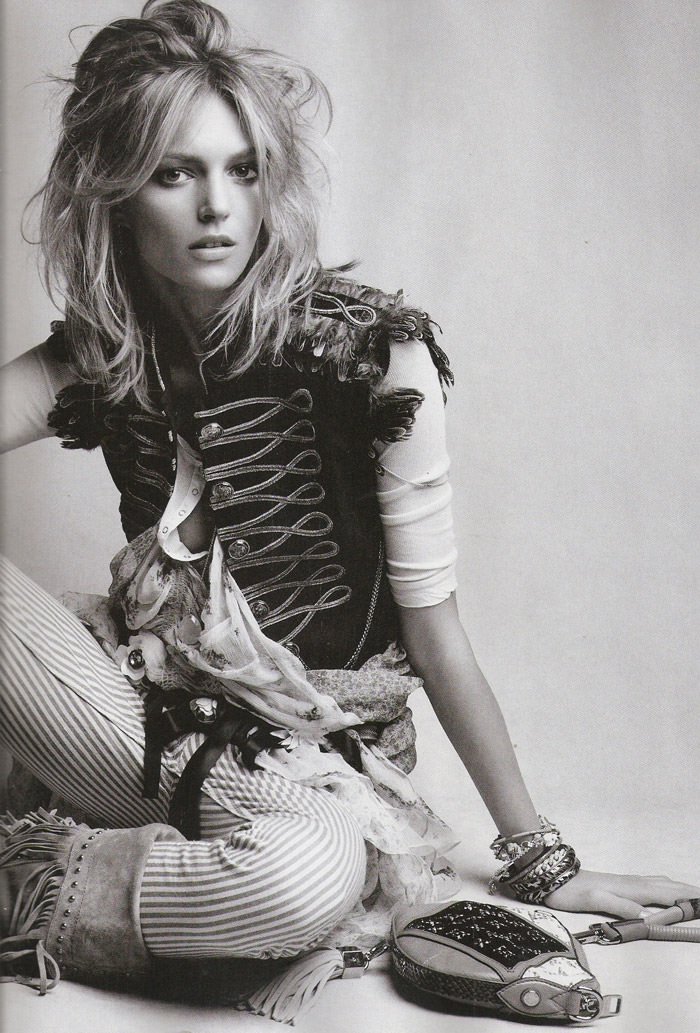 "Anja Rubik photographed by Patrick Demarchelier in ""Hey, Jimi"" for Vogue España, March 2010 5"