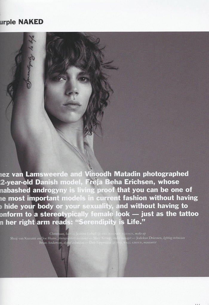 Freja Beha Erichsen photographed by Inez van Lamsweerde and Vinoodh Matadin for Purple Magazine #13 2