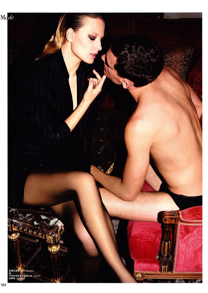 "Tatyana Ruban and Arthur Kulkov photographed by Milan Vukmirović in ""Call Girl"" for L'Officiel Hommes China #228, February 2010 8"