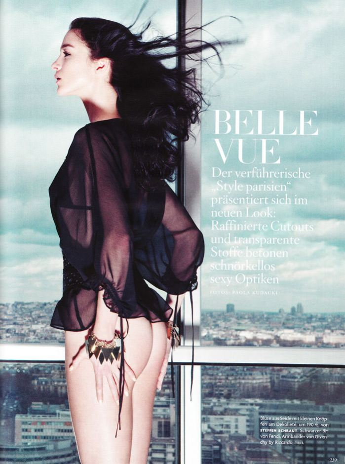"Mariacarla Boscono photographed by Paola Kudacki in ""Belle Vue"" for Vogue Germany, March 2010 2"