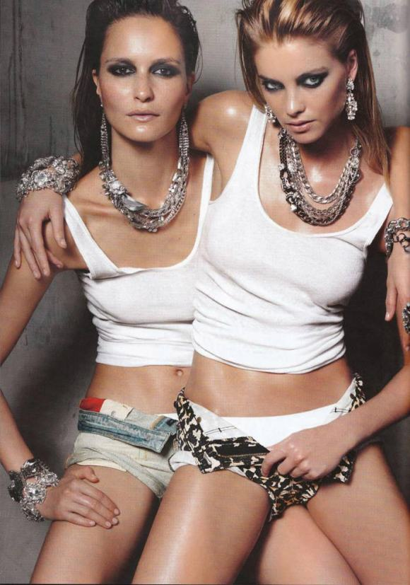 Pania Rose and Elyse Taylor photographed by Georges Antoni for Madison Magazine, March 2010 5