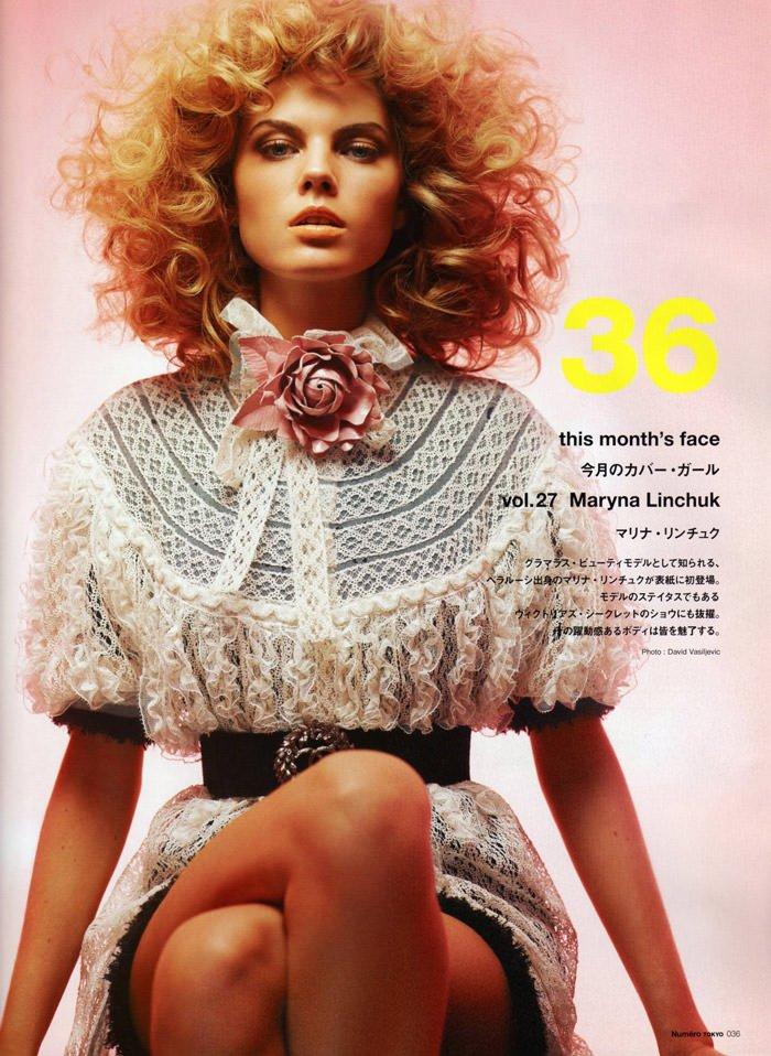 Maryna Linchuk photographed by David Vasiljevic for Numéro Tokyo #34, March 2010 2