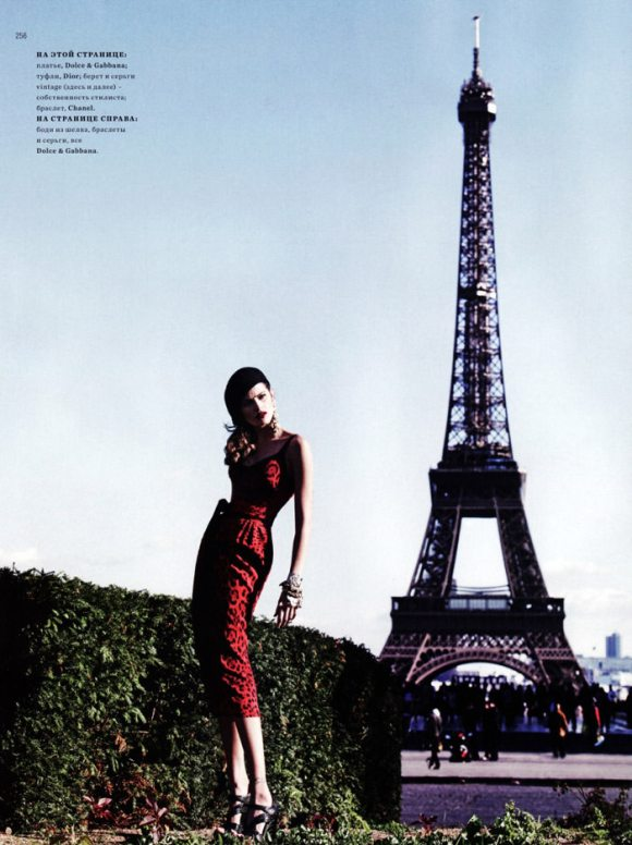 """Isabeli Fontana photographed by Marcin Tyszka in """"French Chic"""" for Harper's Bazaar Russia, March 2010 8"""