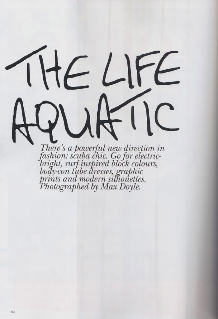 """Abbey Lee Kershaw photographed by Max Doyle in """"The Life Aquatic"""" for Vogue Australia, March 2010 2"""