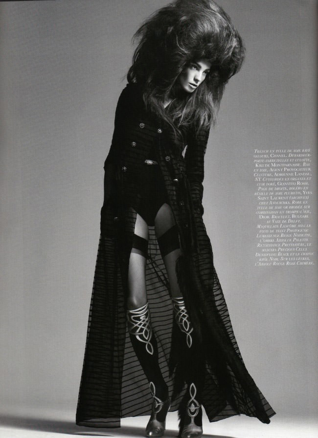 Daria Werbowy photographed by David Sims for Vogue Paris, April 2010 4