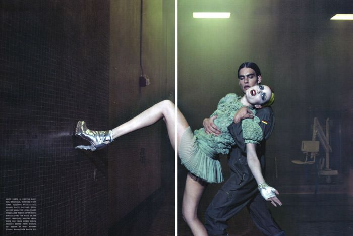 Rie Rasmussen photographed by Steven Klein for Vogue Italia Couture, March 2010 9