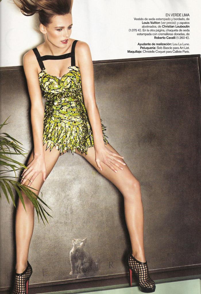 "Edita Vilkeviciute photographed by David Vasiljevic in ""Surf Urbano"" for Vogue España, April 2010 16"