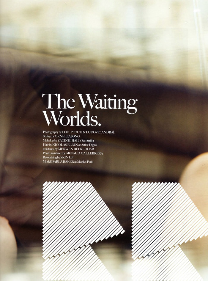 """Darla Baker photographed by Loïc Peoc'h & Andral Ludovic in """"The Waiting Worlds"""" for Mirage Magazine #2 2"""
