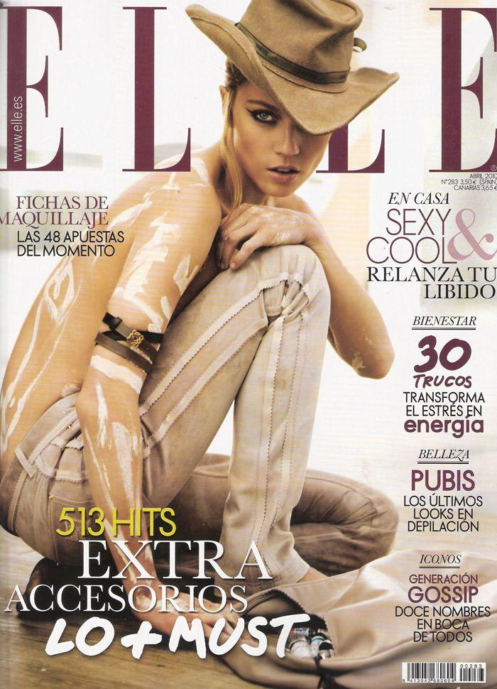 """Masha Novoselova photographed by Mario Sierra in """"Nude Sobre Piel"""" for Elle España, April 2010 1"""