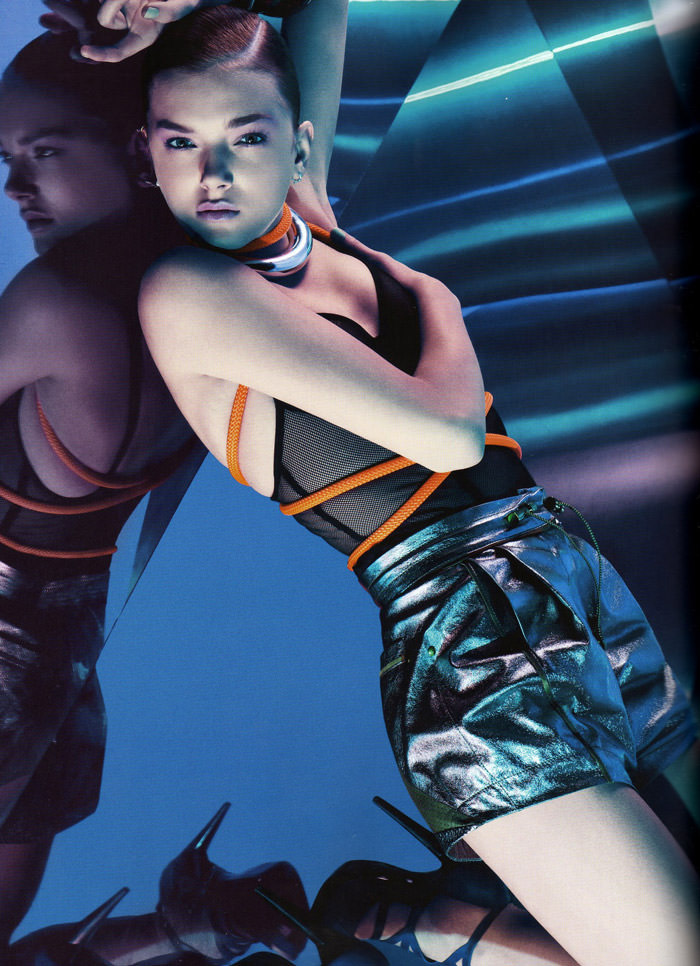 """Lily Donaldson photographed by Sebastian Kim in """"Color Me Bad"""" for Numéro #111 3"""