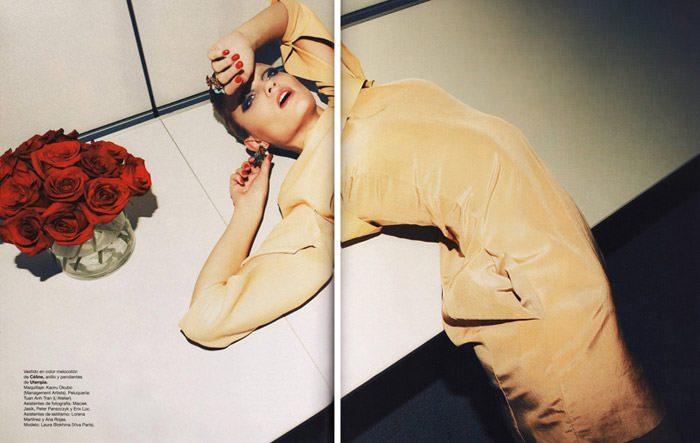 "Laura Blokhina photographed by Nagi Sakai in ""Tormenta de Ideas"" for Harper's Bazaar España, April 2010 1"