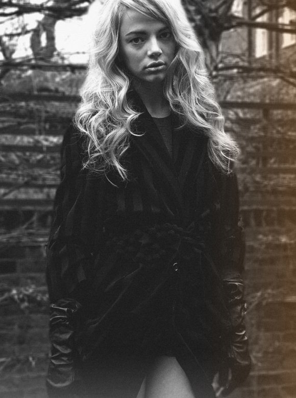 """Chloe Watson photographed by Zoë Zimmer in """"Fell On Black Days"""" for Fault Magazine, May 2010 3"""