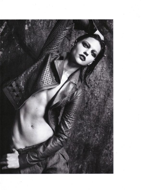 "Sasha Pivovarova photographed by Mario Sorrenti in ""Uniform: A Singular Mood"" for Vogue Italia, April 2010 13"