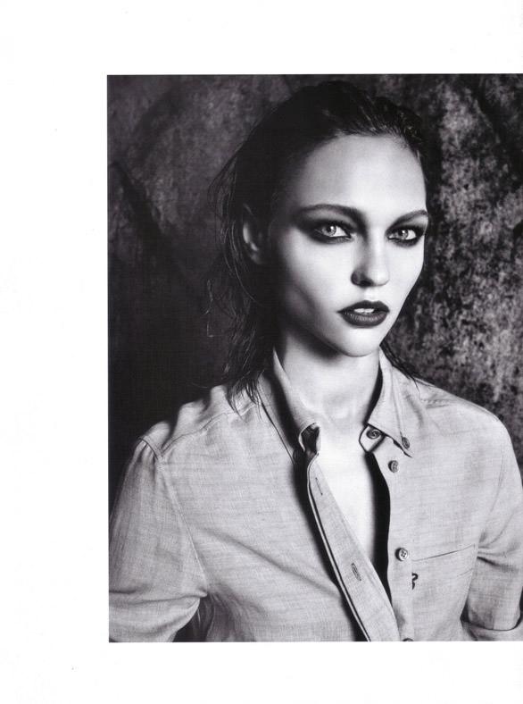 "Sasha Pivovarova photographed by Mario Sorrenti in ""Uniform: A Singular Mood"" for Vogue Italia, April 2010 16"